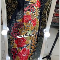 Baju Tidur Daster Hamil Lowo Kalong Kelelawar Pekalongan Jumbo Premium - Merah, All Size