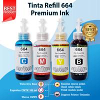 Tinta Premium Epson 664 Refill Printer L120 L220 L300 L310 L350 L355