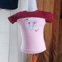 baju anak wanita pink merk justice LD50 panjang 35