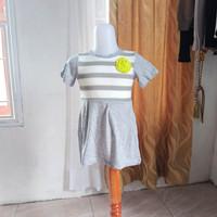 baju anak wanita abu2 merk Justice LD50 panjang 47