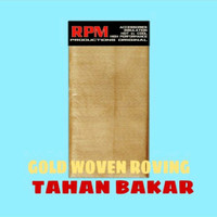 RPM Glaswol Racing / Gasbul Knalpot / Gaswoll Knalpot Anti Bakar - Rpm Woven Gold