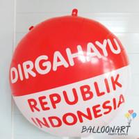 Balon Plastik Dirgahayu Bulat/Balon Foil/Balon 17/I Love Indonesia - Bulat