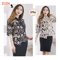 Batik modern murah / baju batik wanita / batik lengan panjang / kantor