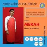 Apron Celemek Cuci Piring Bahan PVC Full Warna Merah