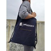 Eksogen - Tote Bags Premium Kanvas 2 Fungsi dalam 1 Tas - Navy