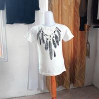 baju anak wanita putih motif gambar merk justice LD54 panjang 40