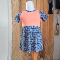 baju anak wanita Pink biru merk Justice LD50 panjang 47