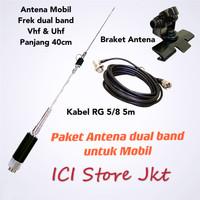 Paket Antena Mobil Dualband Pendek