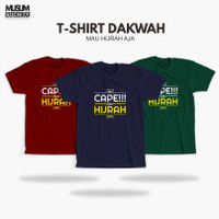 Baju Kaos Dakwah Islami Pria Kaos Distro Muslim Cowok Aku Mau Hijrah