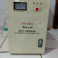 Stabilizer listrik/Stavol/AC Voltage Regulator 10000 Watt- 1 Phase