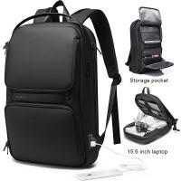 Tas Bange BG7261 Bag Backpack Ransel Laptop 15.6 Inch Anti Air USB - Black