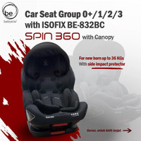 carseat/ kursi mobil baby elle 832B spin 360 with isofix