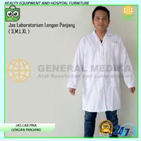 Jas Laboratorium Lengan Panjang | Baju Seragam Lab Ukuran ( S M L XL )