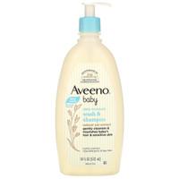 Aveeno, Baby, Wash & Shampoo, Lightly Scented, 18 fl oz (532 ml)