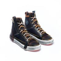 Sepatu Sneakers Kulit Pria Exodos57 Galan Dirty Brown