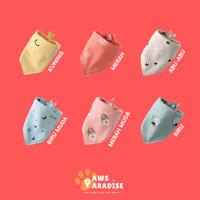 Bandana Anjing Kucing Katun Scarf Korean Pet Cat Dog Slabber Collar