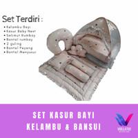 set kasur bayi baby nest , beddingset , kelambu bayi dan bansui brown