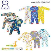 Velvet Junior Setelan Oblong Panjang Stelan Piyama Kancing Baju Tidur