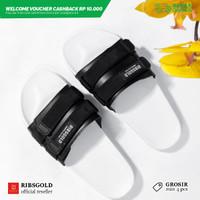 Sandal dengan Strap / Slippers Flip Strap - Putih, 42