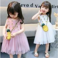 Baju anak perempuan import dress deploy pineapple tutu