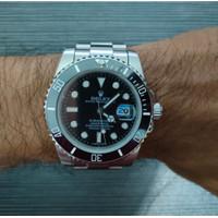 Jam Tangan Pria Rolex Submariner Black Dial Ceramic Best Clone Limited