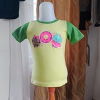 baju atasan anak cewek kuning hijau merk justice LD 54 panjang 38