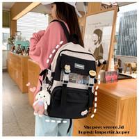 Joshee Tas Ransel wanita backpack wanita backpack pria X2420 - Hitam, X7357 tanpa acc