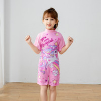 Baju renang one piece anak cewe lucu barbie mermaid unicorn import - Pink Unicorn, M