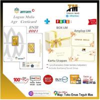 LOGAM MULIA ANTAM @3GR  CERTICARD LM 999.9% / 89081594 TEGUH MAS