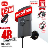 Antena TV Digital analog PX DA-5120 Indoor/Outdoor + Kabel 12M