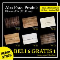 Background Alas Foto Produk A3+ Motif Kayu (W 07-12)