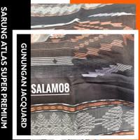 Sarung Atlas Super Premium Gunungan Jacquard Black Edition By BHS