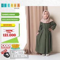 Baju Muslim Anak Perempuan Gamis Umur 4 5 6 7 8 9 10 Tahun Terbaru