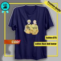 Kaos Pria T-shirt Baju Cowok Lengan Pendek Distro pakaian Murah Keren - Grey, M