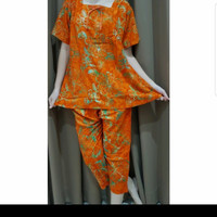 Baju Tidur Batik Anita Baby Doll Celana Pendek Size XL Tanpa Kancing