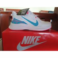 Sepatu Sneakers NIKE Original Sepatu Lari / joging Putih Biru 36-40 - 36