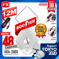 Antena TV Digital Analog 4K DVB-T2 High Gain 25-DB PX HDA-2000 Putih