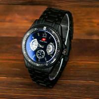 jam tangan pria swis armi rantai hitam grosir murah