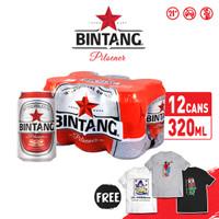 Bir Bintang Pilsener 320ml Can 12 Pcs + FREE T-Shirt