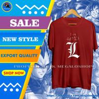 T Shirt Kaos Pria Distro Cotton Combed Original Murah I am Justice