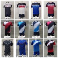Jersey SETELAN Kaos Olahraga Badminton / Baju Bulutangkis