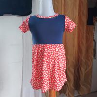 baju anak wanita biru orange merk Justice LD44 panjang 47