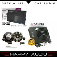 Paket audio mobil cocok untuk harian dengan sub kolong sansui ORIGINAL