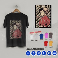 K/538 Kaos Chun-Li ChunLi China Street Fighter T-Shirt Anak dan Dewasa