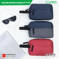 Tas Handbag Canvas Warna / Tas Clutch / Colored Canvas Handbag - Navy