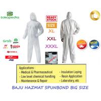 Baju APD Pelindung Diri / Coverall Hazmat Suit Protective / Gramasi 45