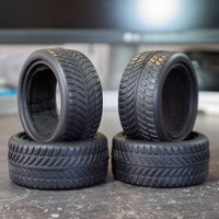 Ban RC 1:10 Onroad on road 67mm With Foam Rubber Tyre Car Mobil Roda