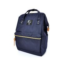 Tas Ransel - anello - CROSS BOTTLE Kuchigane Backpack Regular - Navy