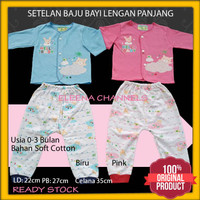 Baju Setelan Bayi Perempuan Baru Lahir 0-3 Bulan Hello Baby Newborn