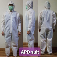 Hazmat Suit Overall APD ANM Protection Waterproof Putih Polos